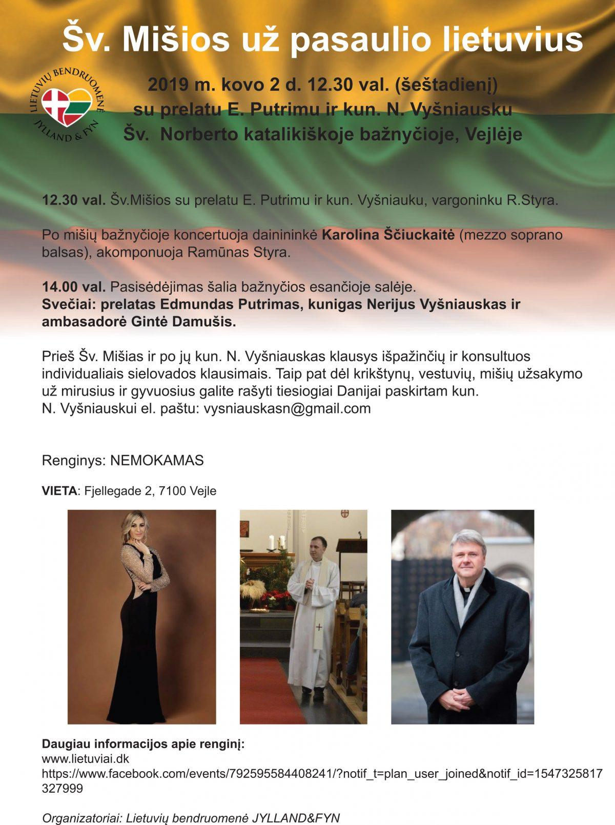 Šv. mišios su prelatu E. Putrimu ir kun. N. Vyšniausku